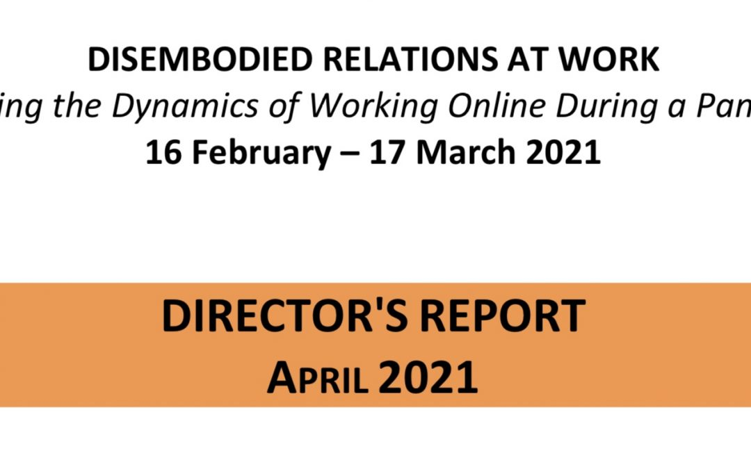 Disembodied Relations at Work – Conference Director's Report